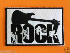 Patch Lo go  ROCK  sew on jackets or hat+for gift handmad