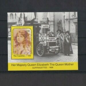 Gambia 1990 90th Birthday Queen Mother M/Sheet MNH per scan