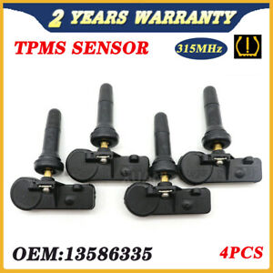 Set of (4) 315MHz 13586335 For GM TPMS Tire Pressure Sensor For Chevy GMC Buick