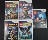 Nintendo Wii Lego Video Game Lot of 5 - Star Wars, Batman, Harry Potter