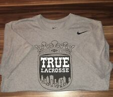 Nike True Lacrosse Short Sleeve Dri Fit Tee Grey Size M