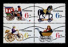 Christmas Antique Toys Precanceled mnh block of 4 1970 USA #1418c train horse