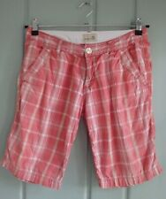 Horny Toad Womens 4 Small Coral Plaid Bermuda Shorts Stretch Organic Cotton
