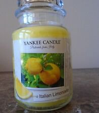 Yankee Candle Italian Limoncello Lemon Scent 22 oz.1 Single NEW Postcard Series