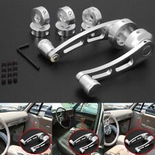 Car Off-Road Window Door Glass Winder Cranks Handle Chrome Aluminium Knobs 2PCS