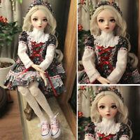1/3 BJD Doll Puppe Geschenk Kugelgelenk Spielzeug Full Set Kinder Mit Kleidung