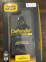 OtterBox Defender Series Case & Belt Clip Holster for Google Pixel 3  Black NEW