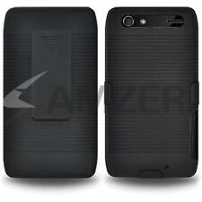 Amzer Shellster Shell Case Holster Cover For Motorola RAZR MAXX XT910 - Black