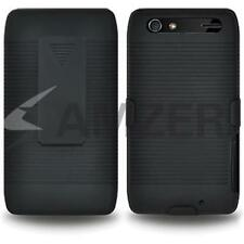 Amzer Shellster Shell caso Fondina Cover per Motorola RAZR MAXX XT910-Nero