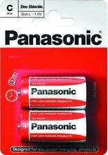 """Nuevo Panasonic C tamaño 2 paquete Tamaño L 1.5V baterías de cloruro de zinc """"Panar 14RB2"""""""