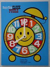 Vintage Connor Toy Puzzle Happy Time Clock Wood 13 Piece #6056 Rare
