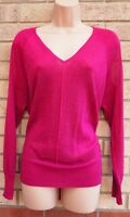 NEXT PINK FUCHSIA GLITTER SPARKLY OVERSIZED THIN KNIT PARTY JUMPER TOP BLOUSE 12
