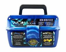 South Bend Wormgear Tackle Box-88 Piece Blue Free Shipping
