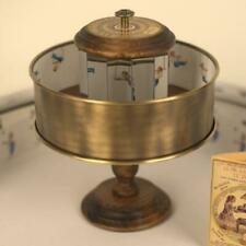 Classic Brass Praxinoscope Optical Toy zoetrope mirrors wooden animation device