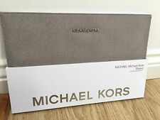"Michael Kors Saffiano MacBook Air 11"" Slim Sleeve Case pearl grey New"