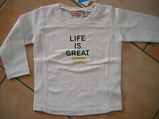 "(54) Imps & Elfs unisex baby shirt logo ricamate e ""Life Is great"" pressione gr.74"