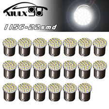 20x White 1156 BA15S 22-SMD LED Light Bulbs Tail Brake Backup Reverse 1206 7506