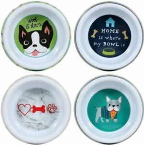 "Dog Bowl Food Water Dish 6.5"" Dia. YOU PICK TYPE Pet Food Sturdy Feeding Bowls"