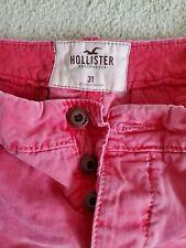Hollister California Men Cotton Walking Casual Shorts Button Fly 31SALMON PINK