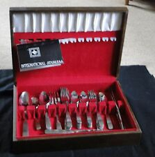 Vintage Never Used 51 piece Rogers Stainless International Silver Company
