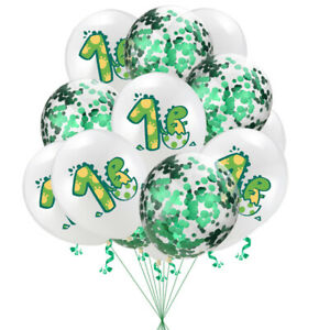 "10Pcs 12"" One year Old Dinosaur Balloons Latex Kids Birthday Decorations Party"
