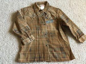 Catimini Boys Shirt Brown/Blue Size 4