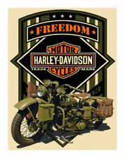 Harley-Davidson Freedom Green Military Embossed Tin Sign 13 X 17 Inches 2011351