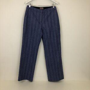 Boden British Tweed By Moon Wool Blend Herringbone Trousers Size Uk 14