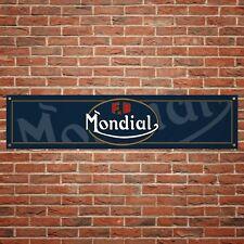 FB Mondial Banner Garage Workshop Motorcycle PVC Sign Trackside Display