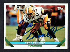 Tony Bennett #585 signed autograph auto 1993 Toops Football Trading Card
