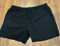 Mens size XXL Black Swim shorts boardies elastic waist board shorts RIVERS NEW
