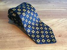 Thomas Pink Pura Seda Tie-Amarillo Azul Diseño Cuadrado-libre de Reino Unido P&p