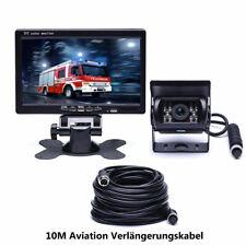 """7"""" LCD Monitor Auto Rückfahrkamera 4Pin 12V / 24V + Rückfahrkit für LKW Bus Van"""