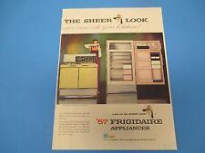 `57 Frigidaire Appliances General Motors The Sheer Look  Print Ad PA002