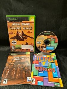 Star Wars The Clone Wars Tetris Worlds Online Edition (Xbox, 2003) CIB