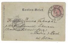 1895 Teplitz Austria Postal Letter Card to Werder