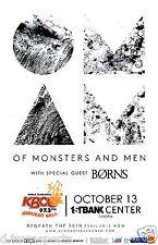 OF MONSTERS AND MEN  w/ Borns 1st Bank - Denver 11x17 Concert Flyer / Gig Poster