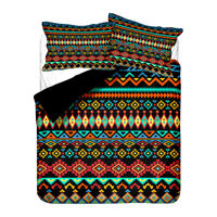 Bohemian Aztec Geometric Zigzags Diamonds Bedding Duvet Quilt Cover Set Gift