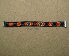 Peyote Bracelet - Handwoven Miyuki Beads - Tribal - Native - Black