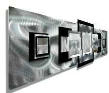 Metal Wall Sculpture Silver, Black  Modern Art Home Decor Office Decor Jon Allen
