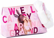 ARIANA GRANDE Patent pink SWEET LIKE CANDY makeup BAG Clutch Purse Head HAIRBAND