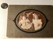 Halloween Antique Photo Infant And Little Girl Look Horrified!