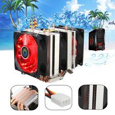 LED Red 3 CPU Cooling Cooler Fan Heatsink For AMD AM4 Ryzen AM2 Intel LGA 1156