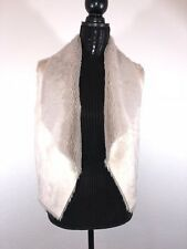 NWT- Jack by BB Dakota Women's Pryor Suede with Faux Fur Vest- Beige