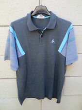 VINTAGE Polo tennis LE COQ SPORTIF années 80 gris shirt 4 M made in France D 50