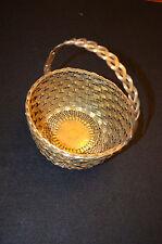 Vintage Woven Decorative Brass Basket Decorator Piece