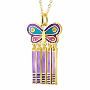 Spring Butterfly Gold Laurel Burch Necklace