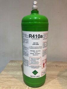 - 1.6 Kg Net - R410A REFRIGERANT GAS - Sealed - Refillable cylinder