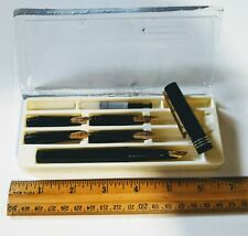 Vintage Osmiroid Master Calligraphy Set Fountain Pen With 5 Easy Change Nibs