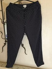 Jack Wills Trousers 10 Blue With Spots